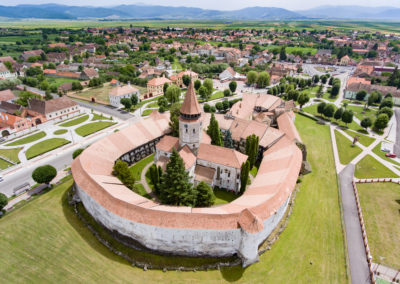 opevněný kostel Prejmer