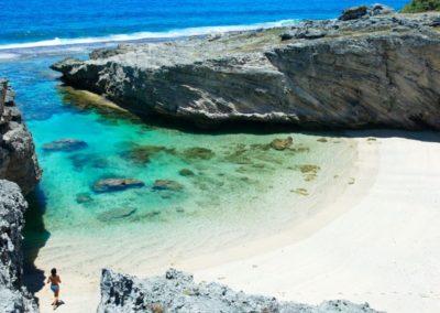 RODRIGUES OCEAN INDIEN LA PLAGE ANSE BOUTEILLE A L EST DE L ILE