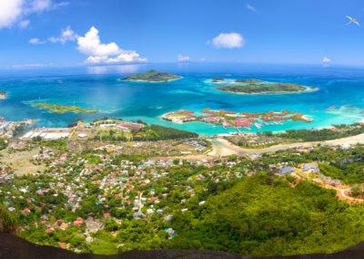 Mahe Island panorama