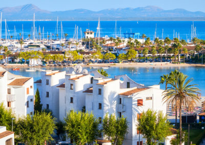 Alcudia, main tourist centre in the North of Majorca.