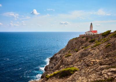 Capdepera lighthouse in Cala Ratjada, Mallorca.