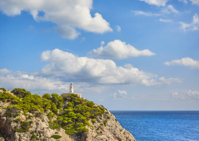 Capdepera Lighthouse on a beautiful day, Mallorca.