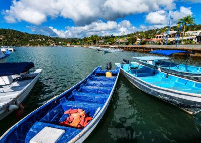 Fishing boats in Samana, Dominican Republic